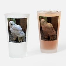 Snowy Owl Full Drinking Glass
