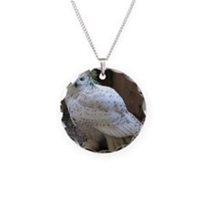 Snowy Owl Full Necklace Circle Charm