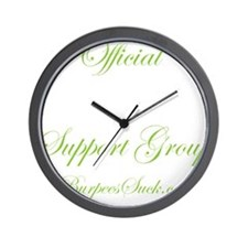 support group G1 Lime - White Wall Clock
