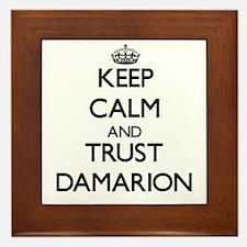 Keep Calm and TRUST Damarion Framed Tile