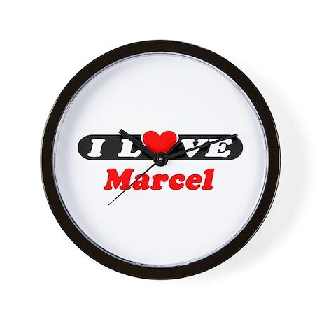 I Love Marcel Wall Clock