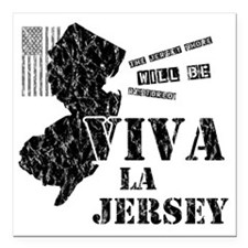 "VivaLaJersey_W Square Car Magnet 3"" x 3"""