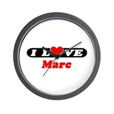 I Love Marc Wall Clock