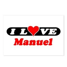 I Love Manuel Postcards (Package of 8)