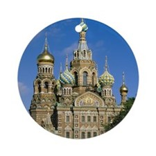 Exterior of church, St. Petersburg, Round Ornament