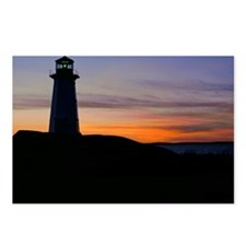 Lighthouse at sunset, Peg Postcards (Package of 8)