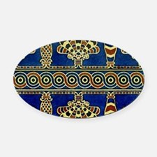 Art Deco Rug Oval Car Magnet