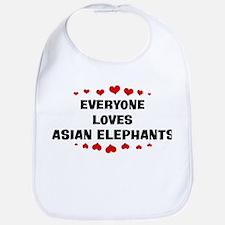 Loves: Asian Elephants Bib