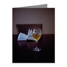 Book and wine Note Cards (Pk of 20)