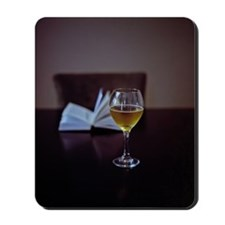 Book and wine Mousepad