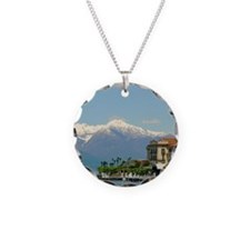 Lake Como with alps Necklace