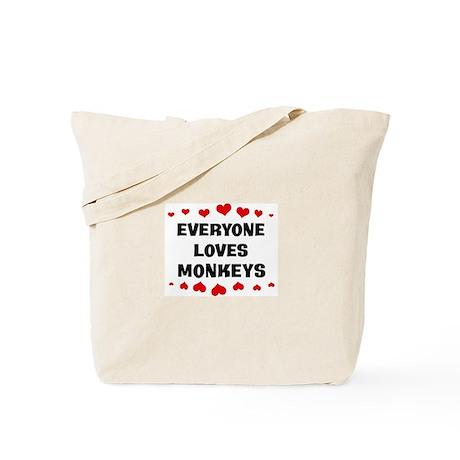 Loves: Monkeys Tote Bag