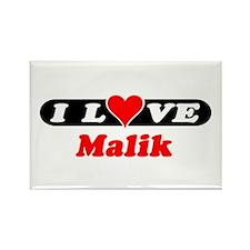 I Love Malik Rectangle Magnet