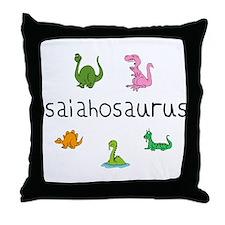 Isaiahosaurus Throw Pillow
