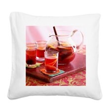 Sangria with red wine and fru Square Canvas Pillow