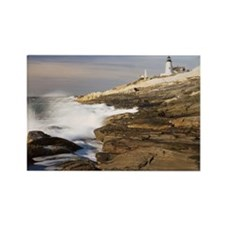 Lighthouse - Pemaquid, Maine Rectangle Magnet