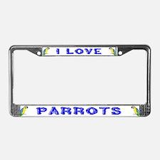 Parrots License Plate Frame