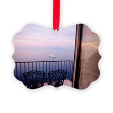 View of sea from balcony in Sorre Ornament