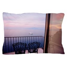 View of sea from balcony in Sorrento,  Pillow Case