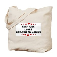 Loves: Red-Tailed Hawks Tote Bag