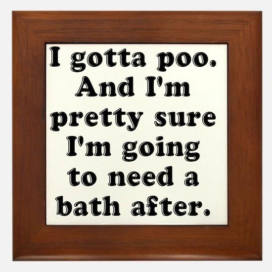 Poo Bath Framed Tile