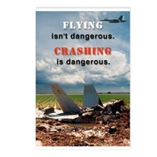 """Flying isn't Dangerous..."" Postcards (Package of"