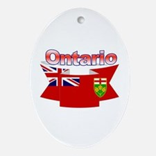 The Ontario flag ribbon Ornament (Oval)