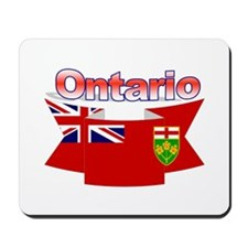 The Ontario flag ribbon Mousepad