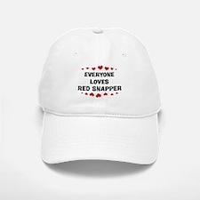 Loves: Red Snapper Baseball Baseball Cap