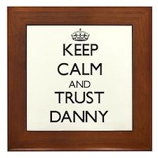 Keep Calm and TRUST Danny Framed Tile