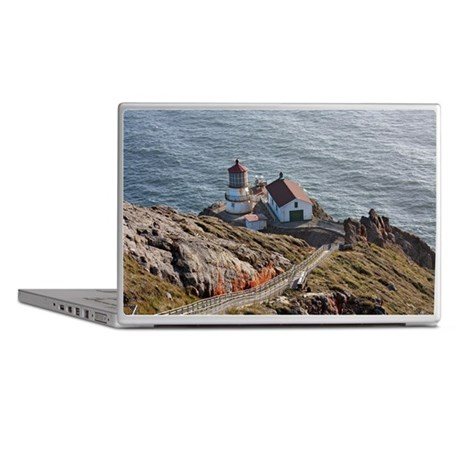 Point Reyes lighthouse on California Laptop Skins