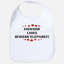 Loves: African Elephants Bib