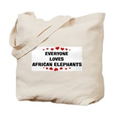 Loves: African Elephants Tote Bag