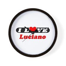 I Love Luciano Wall Clock