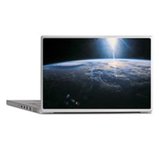 planet earth viewed from space Laptop Skins
