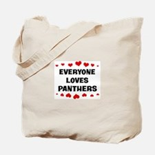 Loves: Panthers Tote Bag