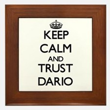 Keep Calm and TRUST Dario Framed Tile