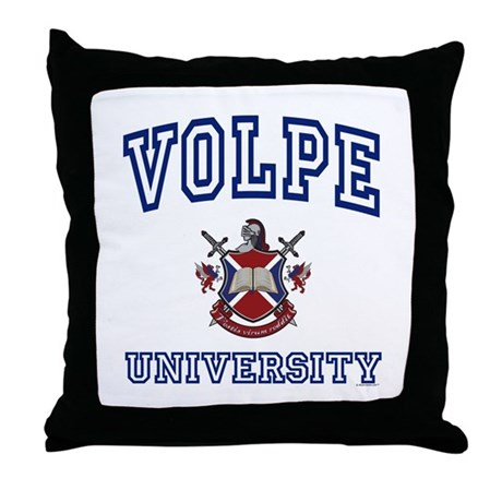 VOLPE University Throw Pillow