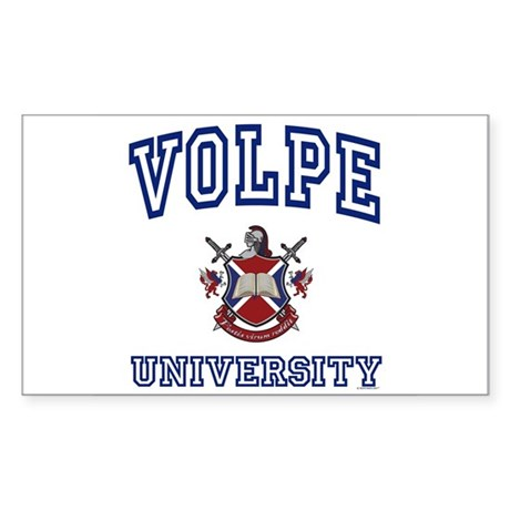 VOLPE University Rectangle Sticker