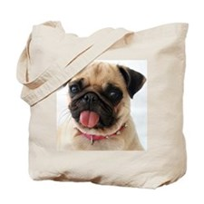 Portrait of pug Tote Bag