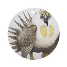 Sage Grouse Centrocercus urophasian Round Ornament