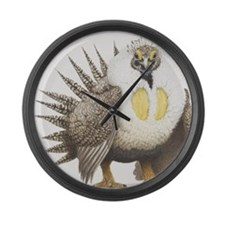 Sage Grouse Centrocercus urophasi Large Wall Clock
