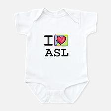 I Love ASL 1 Infant Bodysuit