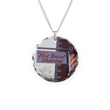 Sign for Hot Towel Shaving b Necklace