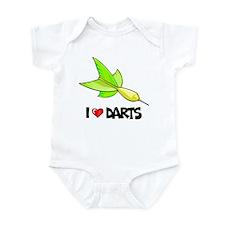 I Love Darts Infant Bodysuit