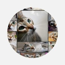 Singapura Cats Round Ornament