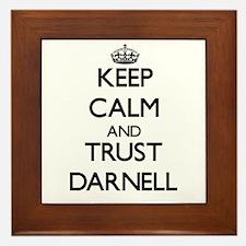 Keep Calm and TRUST Darnell Framed Tile