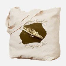 Cool Uss champlain Tote Bag