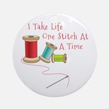 One Stitch at a Time Ornament (Round)
