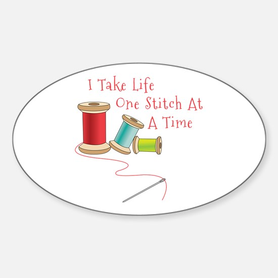 One Stitch at a Time Stickers